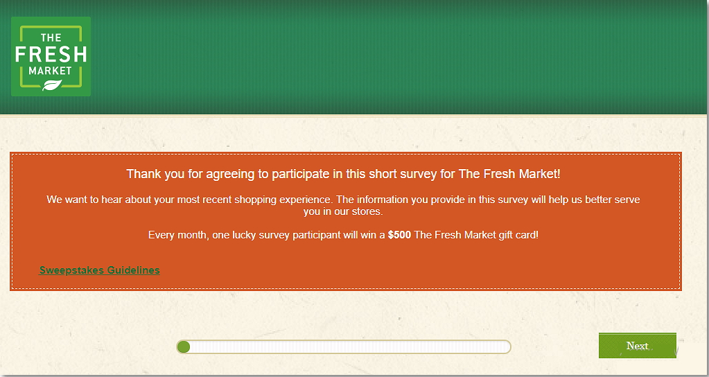 thefreshmarketsurvey.com home page