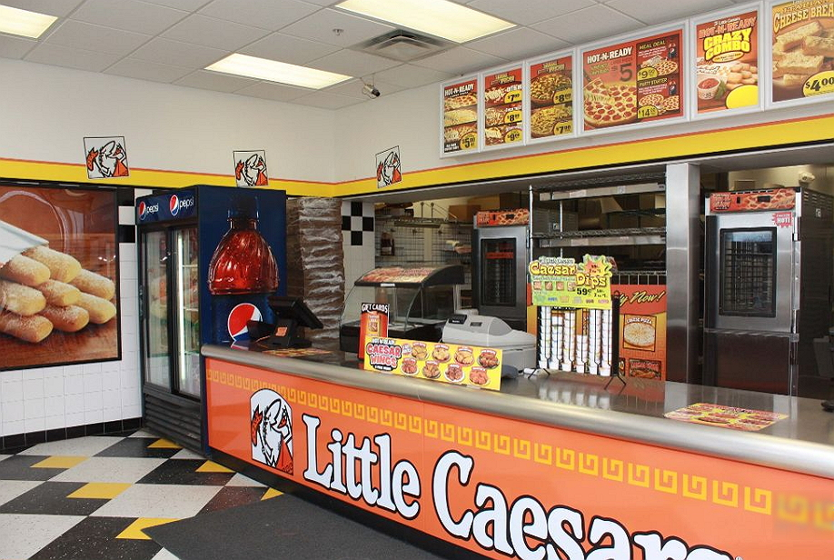 Little caesars fast food store
