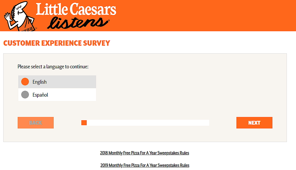 www.littlecaesars.com survey home page