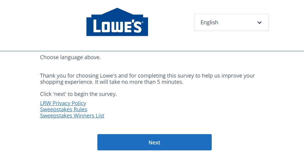 Www.Lowes.Com/Survey Homepage