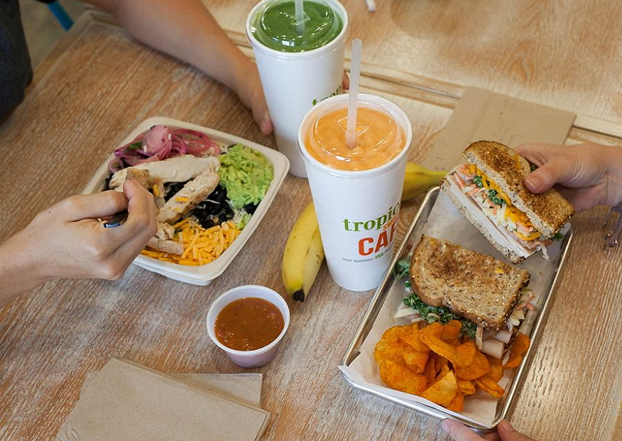 smoothies and sandwiches