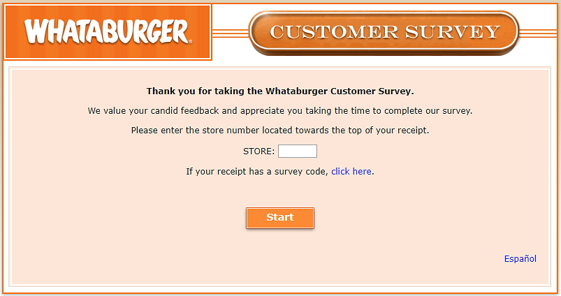 whataburger.com home page