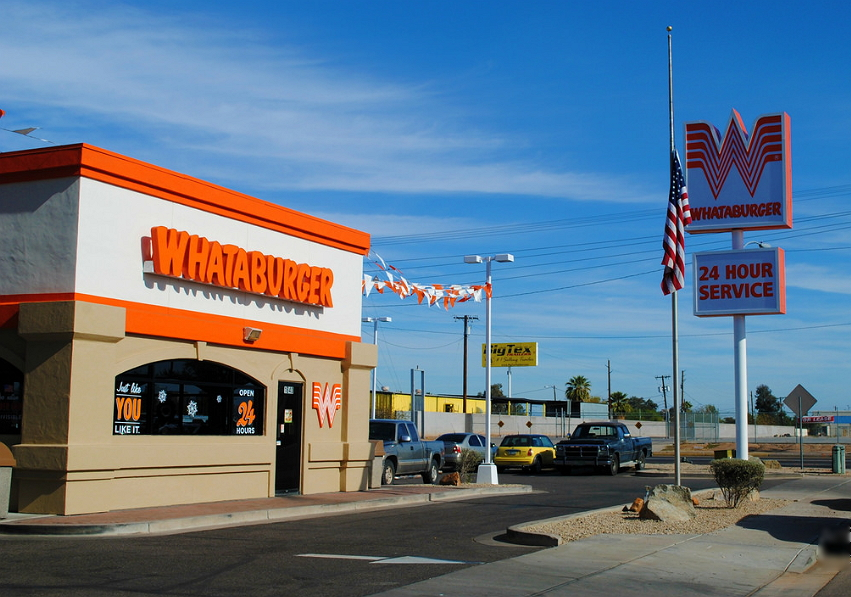 Whataburger colored building