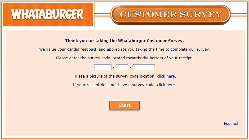 home page of whataburger