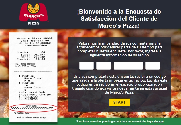 Tellmarcos survey page spanish