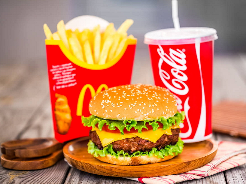 delicious burgers & chicken products at mcdonald's
