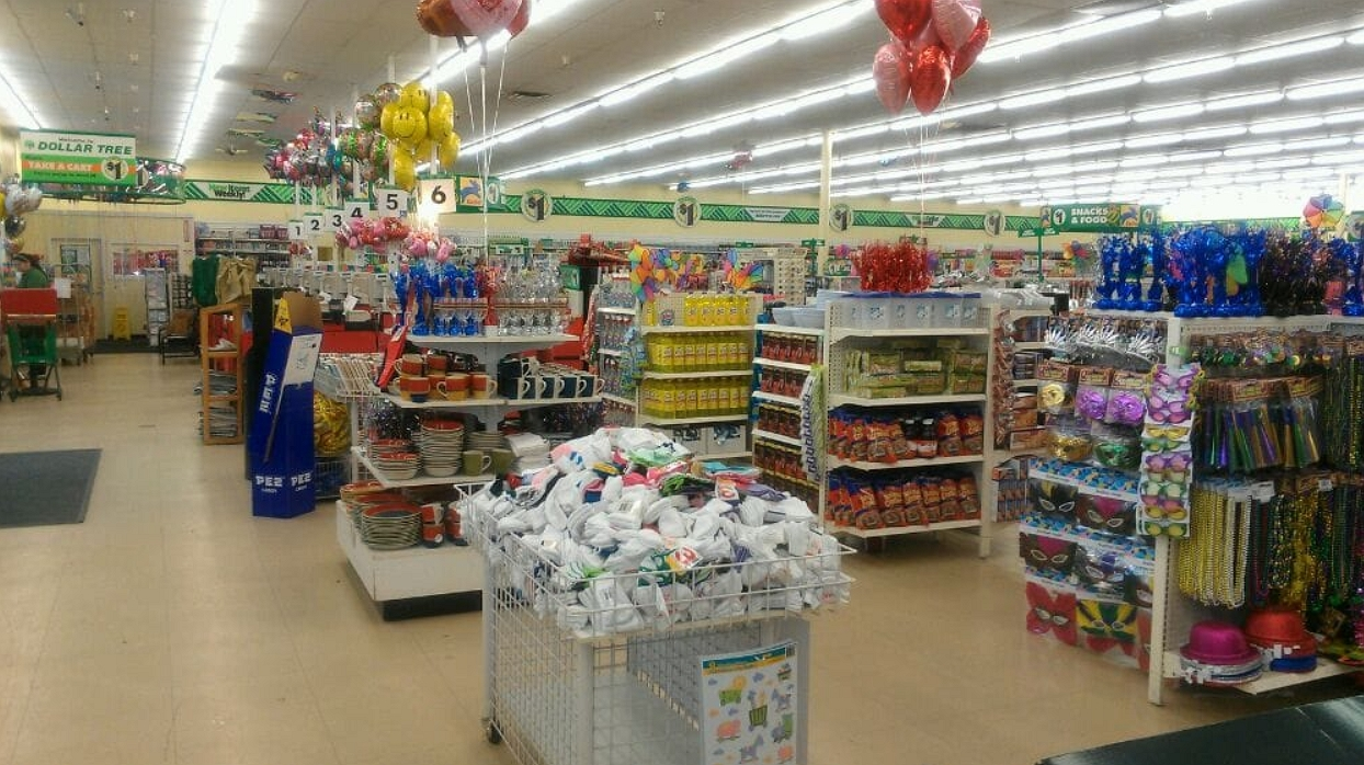 inside the dollar tree store