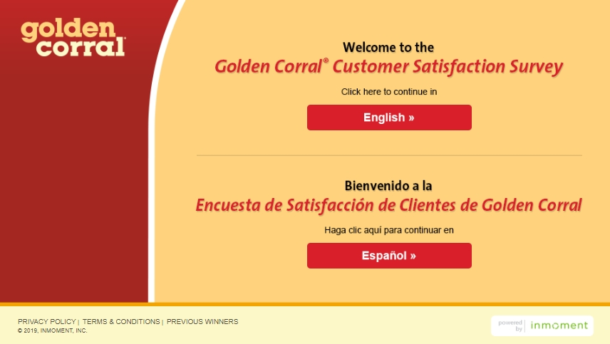 golden corral homepage