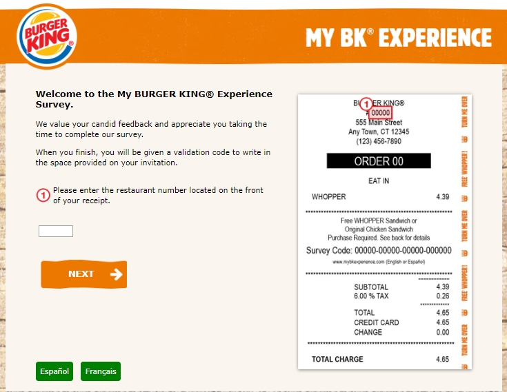 Mybkexperience Take Burger King Survey And Win Free Whopper
