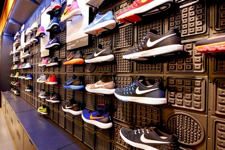 Nike shoes at store