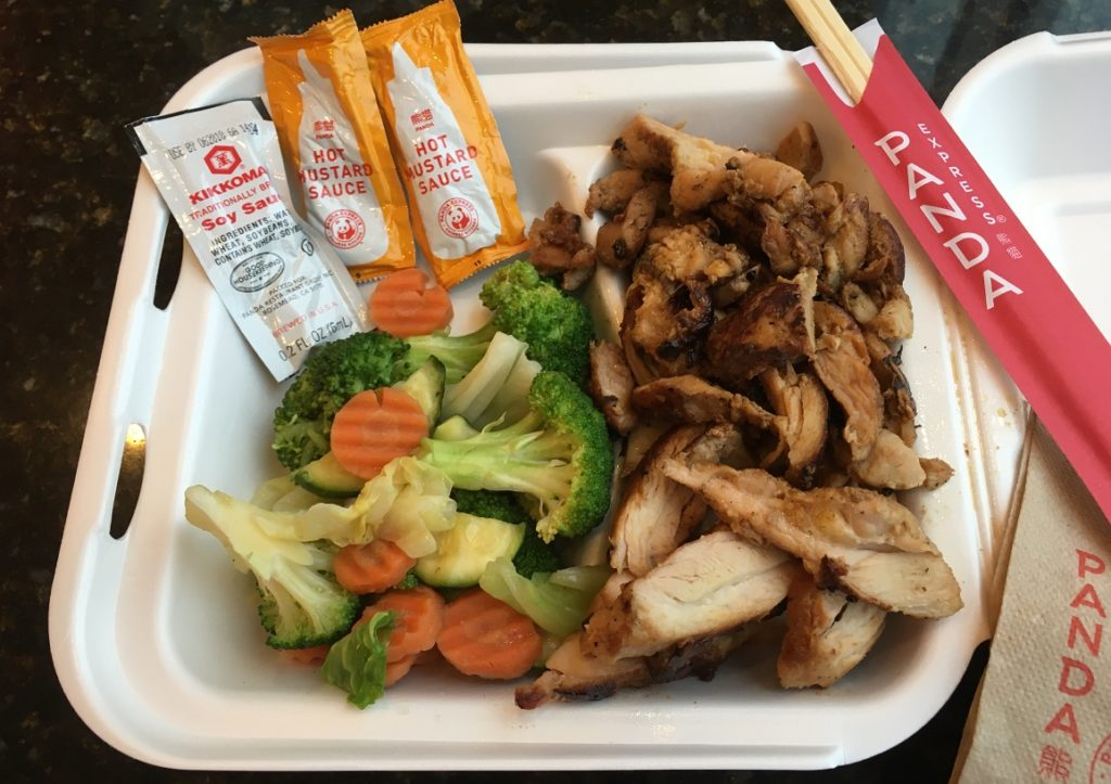 delicious food at panda express restaurant