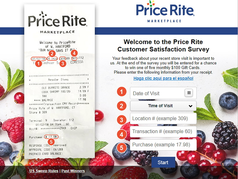 Price Rite Experience Homepage