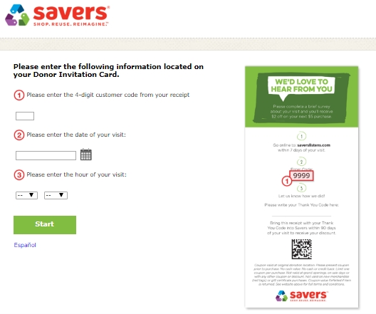 savers listens survey with donar invitation
