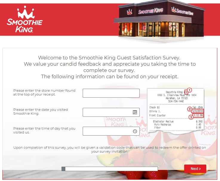 Smoothie King Feedback Homepage