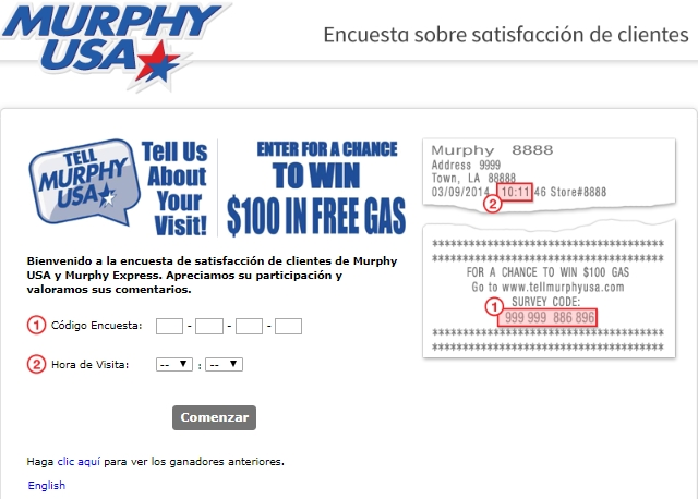 Murphy usa survey in spanish