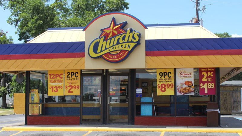 outlook of churchs chicken restaurant