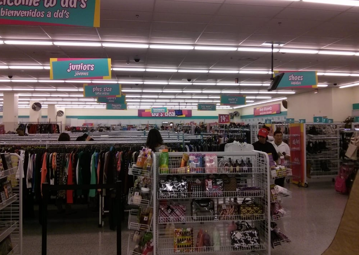 inside the  dds discount  store
