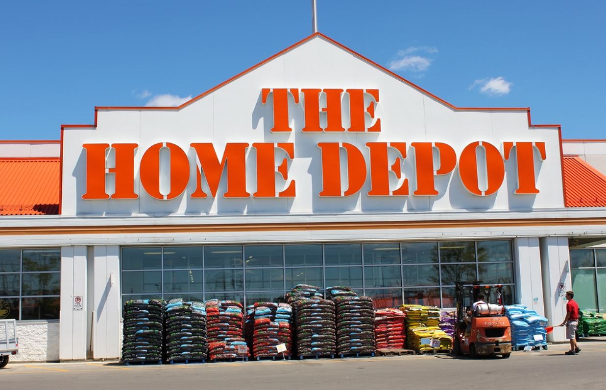 outlook view of home depot store