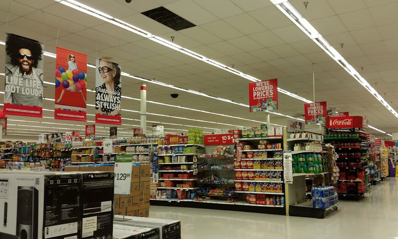 inside the Kmart store